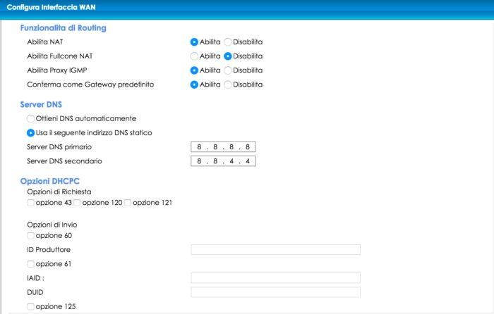 configurare lo zyxel di infostrada con i parametri fastweb (parte 2)