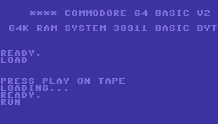 Commodore 64 - press play on tape