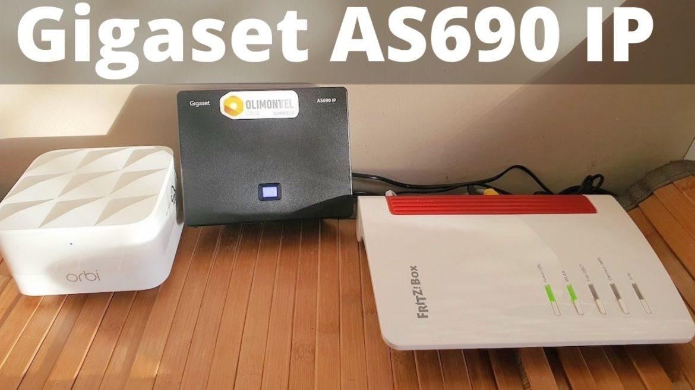 Gigaset AS 690 IP Telefono Cordless per Chiamate VoIP e Telefonia Fissa