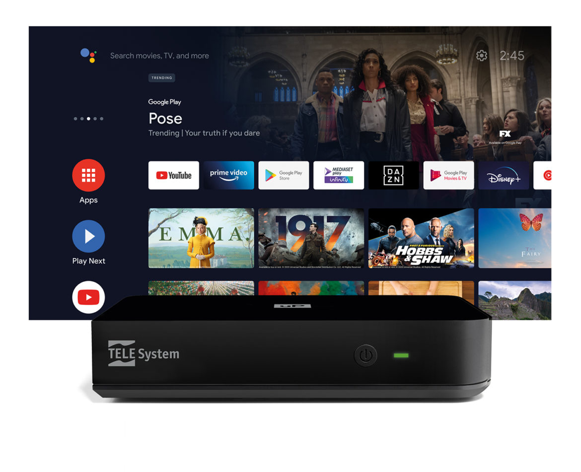 Telesystem UP dvbt-2 con android TV